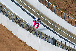 Anze Lavtizar during Slovenian summer national championship and opening of the reconstructed Bloudek's hill in Planica on October 14, 2012 in Planica, Ratece, Slovenia. (Photo by Matic Klansek Velej / Sportida)