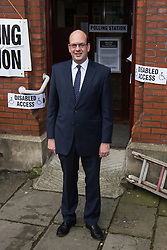 © Licensed to London News Pictures . 20/11/2014 . Kent , UK . UKIP candidate MARK RECKLESS , leaving a polling station at Baptists Church Institute on Crow Lane , Rochester , after casting his vote . The Rochester and Strood by-election campaign following the defection of sitting MP Mark Reckless from Conservative to UKIP . Photo credit : Joel Goodman/LNP
