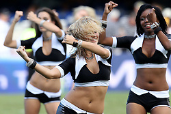 Sharks Dancers and The Sharks Flashers perform before the start of the Super15 match between The Mr Price Sharks and The Blues held at Mr Price Kings Park Stadium in Durban on the 26th February 2011..Photo By:  Ron Gaunt/SPORTZPICS