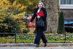 © Licensed to London News Pictures. 13/11/2018. London, UK. Secretary of State for Northern Ireland Karen Bradley arrives on Downing Street for the Cabinet meeting. Photo credit: Rob Pinney/LNP