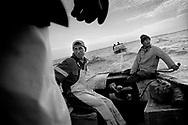 1/5: Fishermen sailing the Aral Sera / Aralsk region, Kazakhstan
