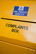 A yellow prioner compliants box. HM Prison Askham Grange is a women's open category prison, located in Askham Richard village in North Yorkshire, England. The prison is run by Her Majesty's Prison Service. Askham Grange accepts adult females and female young offenders, and has space for ten mothers to maintain full-time care of their child or children whilst in custody. Inmates tend to have already served three years or more in other prisons, and are transferred to Askham Grange to complete the last part (maximum three years) of their sentence. Because of this the prisons main focus is the re-integration and re-settlement of prisoners into the community and preparation for life after prison. Accommodation in the prison consists mainly of dormitories, though there are some single rooms. All prisoners in the Mother and Baby unit have their own rooms. The prison's education department mainly concentrates on vocational skills, and many prisoners are given work-placements outside the prison as part of their re-settlement plan.