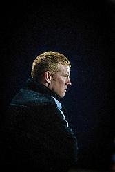 Falkirk's manager Gary Holt.<br /> Falkirk 3 v 1 Raith Rovers, Scottish Championship game at The Falkirk Stadium.