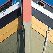 Schooner Fame of Salem, MA being serviced at the Gloucester Marine Railways shipyard.