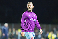 Jack Wilshire (19) of West Ham United warming up during the EFL Cup match between Oxford United and West Ham United at the Kassam Stadium, Oxford, England on 25 September 2019.