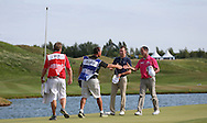 Maximilian Kieffer (GER) & Jaco Van Zyl (RSA) complete the Final Round of the 2015 Alstom Open de France, played at Le Golf National, Saint-Quentin-En-Yvelines, Paris, France. /05/07/2015/. Picture: Golffile | David Lloyd<br /> <br /> All photos usage must carry mandatory copyright credit (© Golffile | David Lloyd)