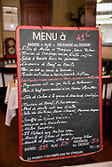 Menu at Le Bistro Paul Bert in Paris.