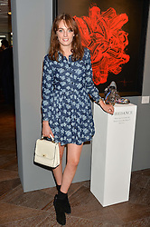 LADY VIOLET MANNERS at a private view of paintings by Michael Flatley entitled Firedance held at 12 hay Hill, London on 24th June 2015.