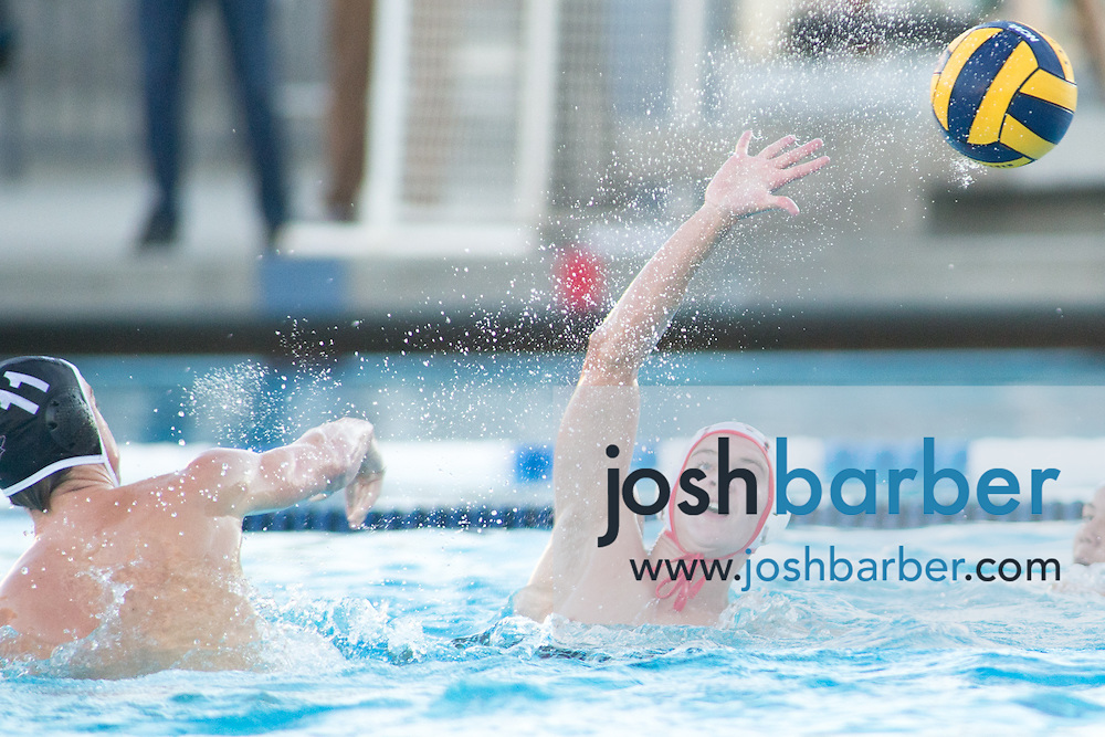 Redlands East Valley's Jared Gornay (2) during the CIF-SS Division 5 Boy's Water Polo Final at Woollett Aquatic Center on Saturday, November 21, 2015 in Irvine, California. (Photo/Josh Barber)