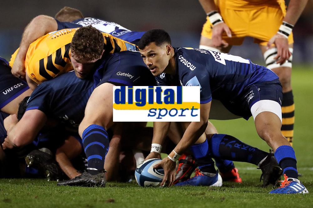 Rugby Union - 2019 / 2020 Gallagher Premiership - Sale Sharks vs. Wasps <br /> <br /> Embrose Papier of Sale Sharks, at AJ Bell Stadium,<br /> <br /> COLORSPORT/PAUL GREENWOOD