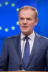 October 4, 2018 - Donald Tusk, EU Council President meet the Prime Minister of Ireland Leo Varadka in the European Council in Brussels, Belgium (Credit Image: © Riccardo Pareggiani/ZUMA Wire)