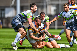 Whitehavens' Marc Shackley loses the ball in the tackle<br /> <br /> Photographer Craig Thomas/Replay Images<br /> <br /> Betfred League 1 - West Wales Raiders v Whitehaven  - Saturday 23rd June 2018 - Stebonheath Park - Llanelli<br /> <br /> World Copyright © 2017 Replay Images. All rights reserved. info@replayimages.co.uk - www.replayimages.co.uk