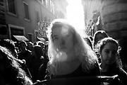 Manifestazione studentesca contro la riforma della scuola del governo Renzi, Roma 13 novembre 2015. Christian Mantuano / OneShot