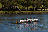 An eight crew is seen training on the Yarra during the 35th day of zero COVID-19 cases in Victoria, Australia. School and community sport is ramping up and as the weather improves, more people are venturing out and about to enjoy this great city. Pressure is mounting on Premier Daniel Andrews to keep his promise of removing all remaining restrictions. (Photo by Dave Hewison/Speed Media)