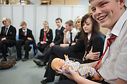 Straight Talking Peer Education Programme. They run teenage pregnancy peer education groups in schools across the UK. Students are encouraged to discuss pregnancy and learn how to care for a new-born baby.