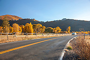 Road passing through the forests surrounding Park City in Fall, Autumn, Utah, United States of America