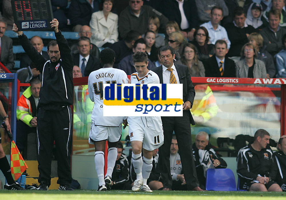 Photo: Lee Earle.<br /> Crystal Palace v Hull City. Coca Cola Championship. 06/10/2007. Hull's Jay-Jay Okocha is subbed early in the first half.