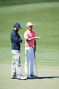 Rickie Fowler (USA) and Adam Hadwin (CAN) during the First Round of the The Arnold Palmer Invitational Championship 2017, Bay Hill, Orlando,  Florida, USA. 16/03/2017.<br /> Picture: PLPA/ Mark Davison<br /> <br /> <br /> All photo usage must carry mandatory copyright credit (© PLPA | Mark Davison)