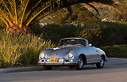 Image of a silver 1956 Porsche 356 Cabriolet in Huntington Beach, Orange County, California by Randy Wells