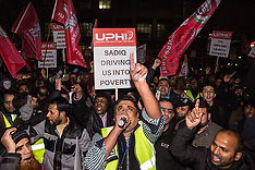 2019-01-21 Minicab drivers' protest at TfL