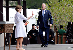Former U.S President George W. Bush and former First Lady Laura Bush attend the opening ceremony of the Smithsonian National Museum of African American History and Culture on September 24, 2016 in Washington, DC, USA. The museum is opening thirteen years after Congress and President George W. Bush authorized its construction. Photo by Olivier Douliery/Pool/ABACAPRESS.COM