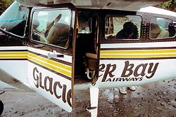 Bill Barber Inside Plane, Glacier Bay Airways Plane