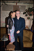 DAVID ROBERTS;  IMDRE SERPYTYTE; , , Lisson Gallery reception at Chiltern Firehouse after the openings of work by Marina Abramovic: White Space and Nathalie Djurberg & Hans Berg: The Gates of the Festival, 15 September 2014