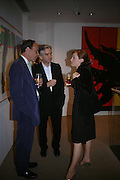 George Plumtre, Rupert Ponsonby and Alice Kavanagh. Corporate Culture, A History of ?Corporate Art Culture. the Fleming Collection. Berkeley St. London W1J 8DU. 21 June 2005. ONE TIME USE ONLY - DO NOT ARCHIVE  © Copyright Photograph by Dafydd Jones 66 Stockwell Park Rd. London SW9 0DA Tel 020 7733 0108 www.dafjones.com