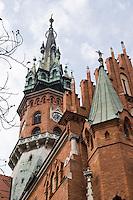 The Spire of St Joseph's church in Podgorze Krakow Poland