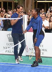 August 23, 2018 - New York City, New York, U.S. - Tennis players  RAFAEL NADAL and SERENA WILLIAMS attend the 2018 Lotte Palace Invitational Badminton Tournament held at the Lotte New York Palace. (Credit Image: © Nancy Kaszerman via ZUMA Wire)