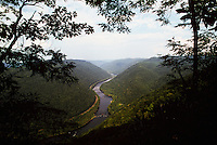 Grandview State Park, offers spectacular overlooks of the New River Gorge at its deepest point. The Park is located near Beckley, West Virginia.