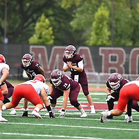 Football: University of Chicago Maroons vs. Washington University in Chicago. Chicago upsets Washingtion University by a score of 31-21.