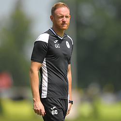Telford manager Gavin Cowan watches on as AFC Telford United return to pre-season training at Lilleshall National Sports Centre on Saturday, June 29, 2019.<br /> <br /> Free for editorial use only<br /> Picture credit: Mike Sheridan/Ultrapress<br /> <br /> MS201920-003