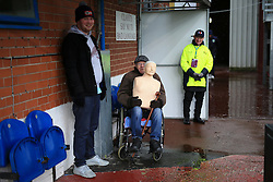 12th February 2017 - Premier League - Burnley v Chelsea - A Burnley fan in a wheelchair holds on to a mannequin torso - Photo: Simon Stacpoole / Offside.