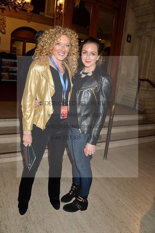 Left to right, KELLY HOPPEN and NATASHA CORRETT at the opening night of Cirque du Soleil's award-winning production of Quidam at the Royal Albert Hall, London on 7th January 2014.