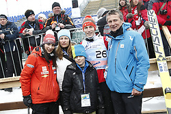 Family Tepes: Anja, mother, Jon, Jurij  and father Miran Tepes after the Flying Hill Individual Event at 4th day of FIS Ski Jumping World Cup Finals Planica 2013, on March 24, 2013, in Planica, Slovenia. (Photo by Vid Ponikvar / Sportida.com)