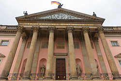 Exterior of Berlin Opera House (Staatsoper)  after renovations in Berlin, Germany.