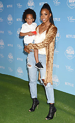 Netflix Original Series 'True And The Rainbow Kingdom' Los Angeles Sneek Peek held at the Pacific Theatres at The Grove. 10 Aug 2017 Pictured: Kelly Rowland and Titan Jewell Witherspoon. Photo credit: Janet Gough / AFF-USA.COM / MEGA TheMegaAgency.com +1 888 505 6342