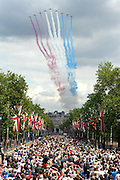 As the Queen celebrates her 84th official birthday with Trooping the Colour, thousands of spectators gather to watch the traditional annual display of military pomp and pageantry on 12 June 2010. The celebration ended with a 30 plane fly past including the red arrows, on The Mall, central London. © under license to London News Pictures......GB RESIGNSPERSON.POSITION.LEAVE A SPACE ON THIS LINE.BUT YOU CAN PUT WHAT YOU WANT HERAR.....PERSON.POSITION.LEAVE A SPACE ON THIS LINE.BUT YOU CAN PUT WHAT YOU WANT HERAR.....