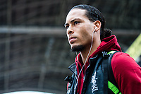 LONDON, ENGLAND - MARCH 31:  (4) Virgil van Dijk of Liverpool during the Premier League match between Crystal Palace and Liverpool at Selhurst Park on March 31, 2018 in London, England.