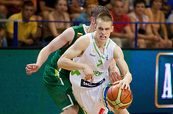 Klemen Prepelic of Slovenia during basketball match between National teams of Slovenia and Lithuania in First Round of U20 Men European Championship Slovenia 2012, on July 14, 2012 in Domzale, Slovenia.  (Photo by Vid Ponikvar / Sportida.com)