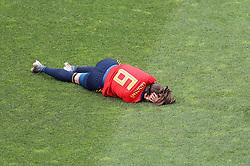 Spain's Victoria Losada on the floor