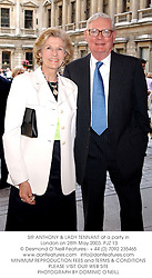 SIR ANTHONY & LADY TENNANT at a party in London on 28th May 2003.PJZ 13