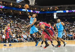 July 6, 2018 - Oakland, CA, U.S. - OAKLAND, CA - JULY 06: Corey Maggette (50) captain of Power goes for a bucket during game 3 in week three of the BIG3 3-on-3 basketball league on Friday, July 6, 2018 at the Oracle Arena in Oakland, CA (Photo by Douglas Stringer/Icon Sportswire) (Credit Image: © Douglas Stringer/Icon SMI via ZUMA Press)