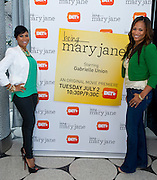 """(L to R) Stephanie D. Johnson and Shon Gables pose for a portrait before a screening of BET's """"Being Mary Jane"""" at the W Hotel in Dallas, Texas on June 22, 2013."""
