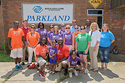 The BGCA Triple Play Mobile Tour at the Parkland Boys & Girls Club on Tuesday, July 28, 2015 in Louisville, Ky. (Brian Bohannon/AP Images for Boys & Girls Clubs of America)