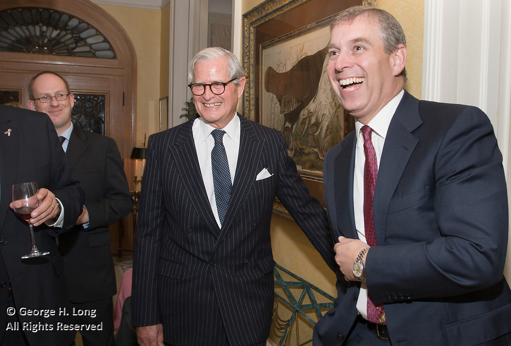 Prince Andrew, Duke of York, dinner party at the home of Minnie and Jimmy Coleman, Jr. in New Orleans, Louisiana.