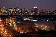 Night view of the Metropolitan Museum of Art from 1050 Fifth Avenue