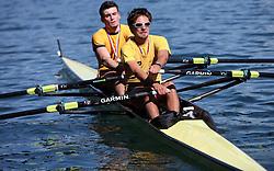 Dejan Sandic and Bine Pislar of VK Izola at 49th Prvomajska regata, on April 20, 2008, in Bled Lake, Slovenia.  (Photo by Vid Ponikvar / Sportal Images)./ Sportida)