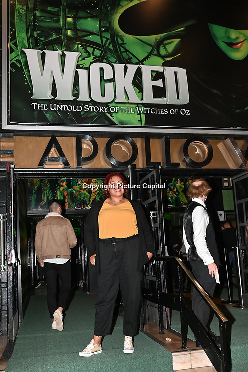 Emily Campbell is a British weightlifter,Tokyo 2020 silver medallist for Team GB attended, A Gala Performance of Wicked. In celebration of its 15th Anniversary in London at Apollo Victoria Theatre, London, UK. on 28th September 2021.